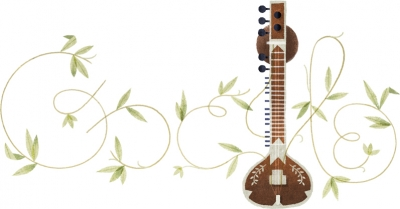 Google Doodle Celebrates Birthday of Pandit Ravi Shankar.