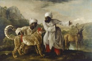 George Stubbs A Cheetah and a Stag with two Indian Attendants 1765