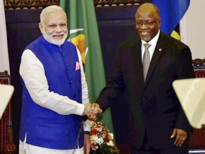 Narendra Modi Arrives in Tanzania